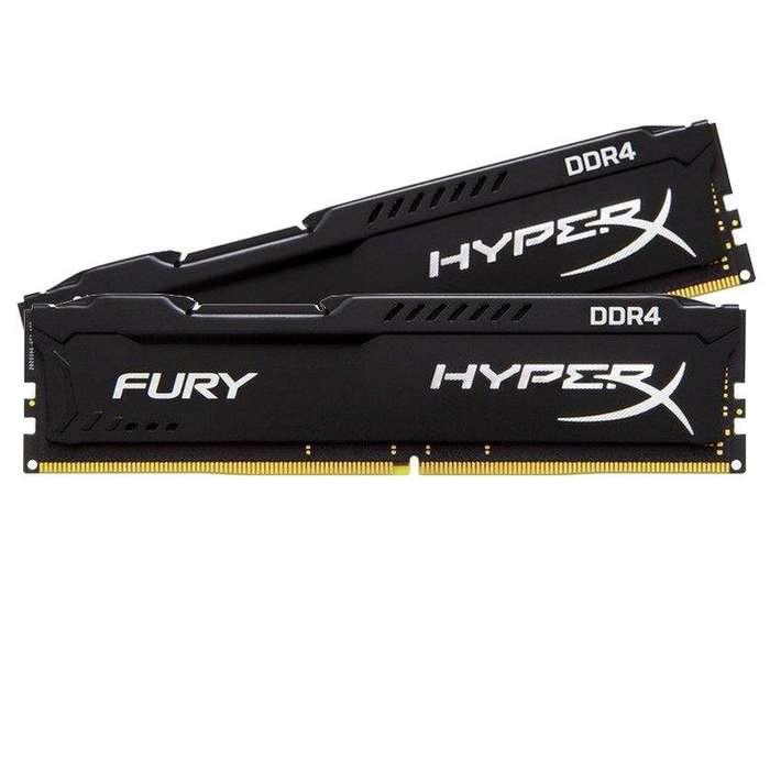 Memoria Ram Ddr4 2x4gb Hyperx Fury 2400 A 2666mhz