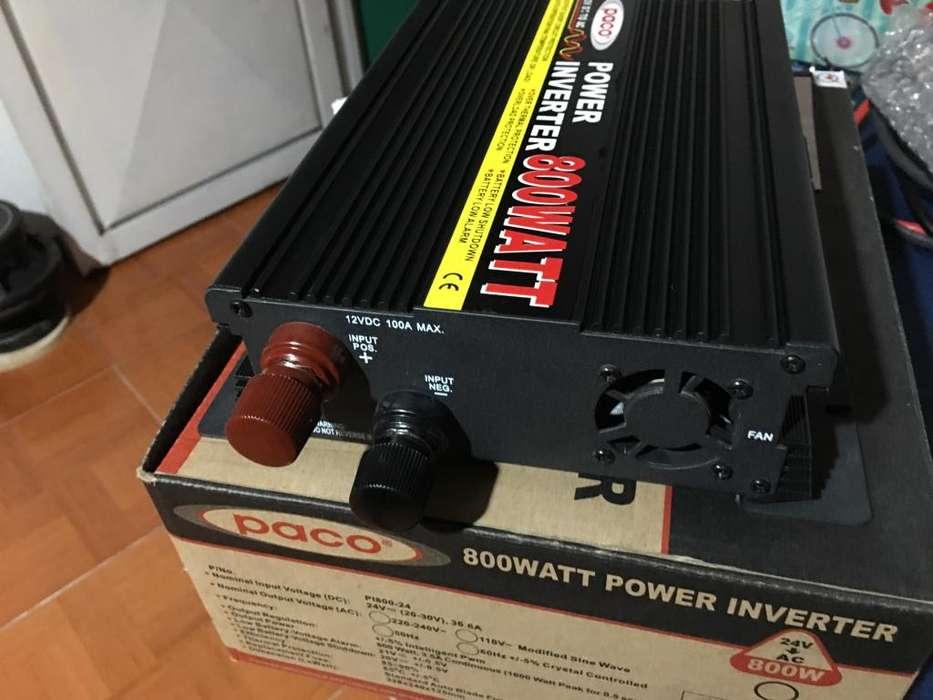Inversor voltaje 12v dc 110v AC Paco