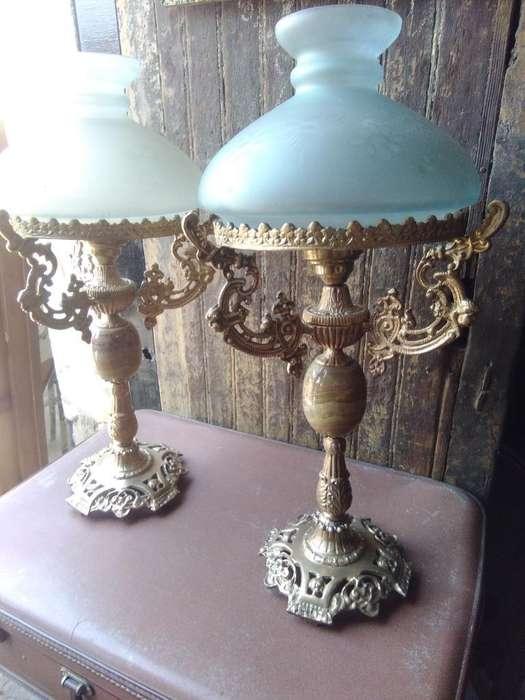Antiguas Lámpara de Bronce