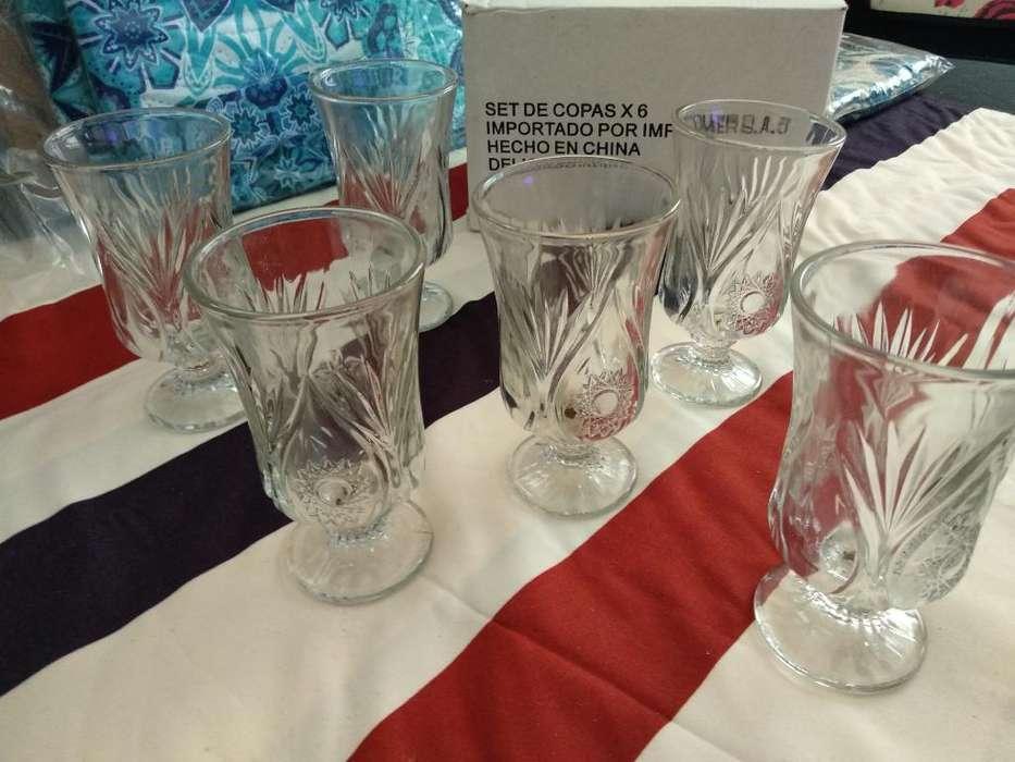 Set de Copas X 6 Cristal