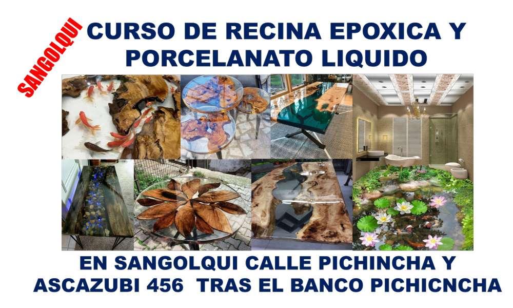 CURSO DE PORCELANATO Y RECINA EPOXICA EN SANGOLQUI