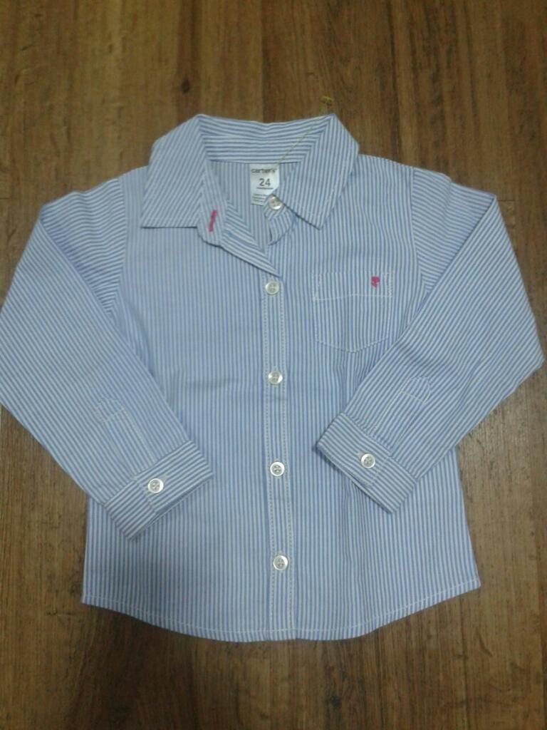 Camisa Carter's Niña con Rayas Azules