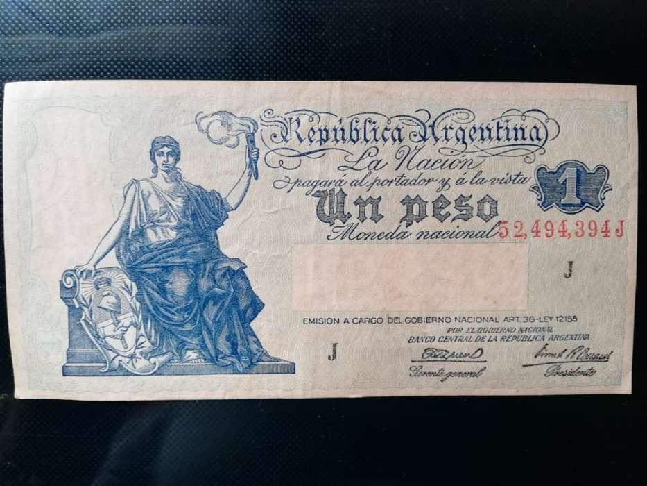 BILLETE 1947 REP. ARGENTINA SERIE J