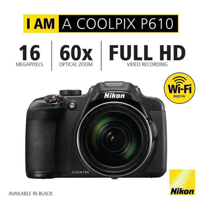 Camara Profesional COOLPIX P610 Nikon HD4K 16 Mp Zoom 60x