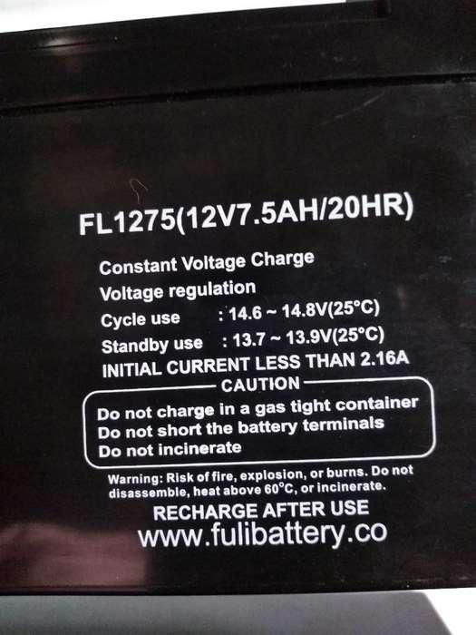 Baterias 12v 7.5ah