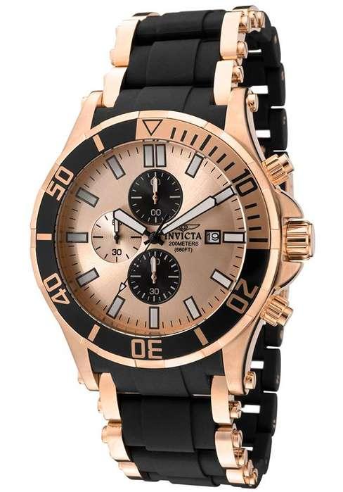 Reloj Hombres Invicta Sea Spider Cronofrafo Oro Rosa 1479