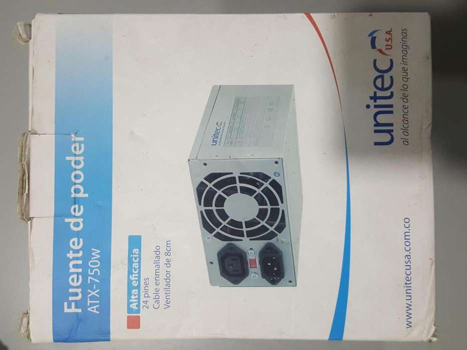 Fuente De Poder Unitec Atx-750w Para Pc 750w