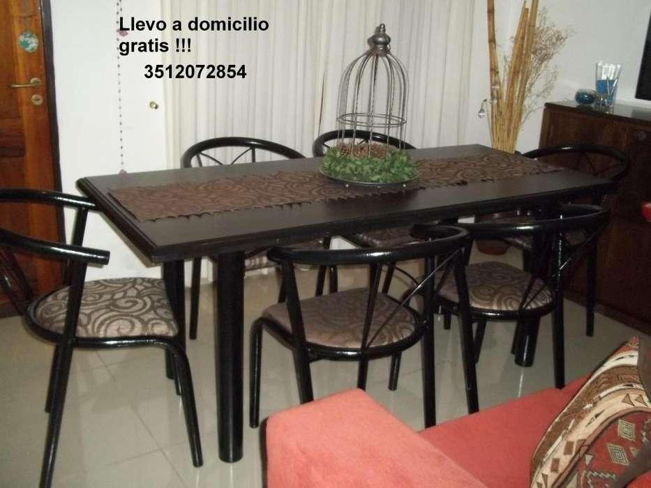 Mesa de 1.80 y 6 <strong>sillon</strong>es reforzados !!! Flete gratis !!