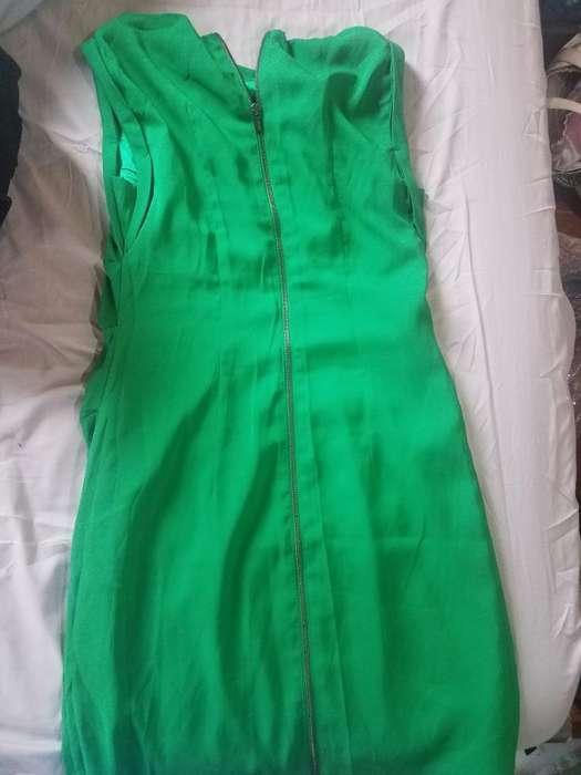 Vestido Mujer Verde Casi Nuevo Talla 8