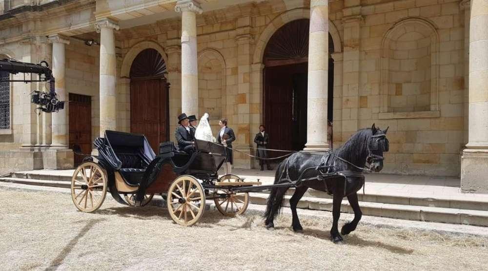 Alquiler de Carroza con <strong>caballo</strong> Frison
