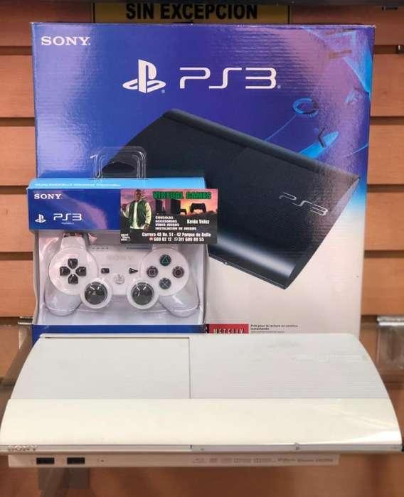 Play 3 S Slim 500GB con Juegos! GTA V, FIFA19 !