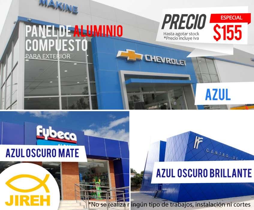 Panel de Aluminio Compuesto azul para exterior Alucobond, Policarbonato, Acrílico, Cielo raso pvc, fachadas