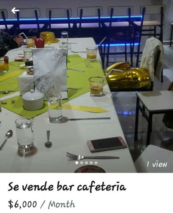de oportunidad local bar cafeteria