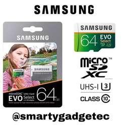 Tarjetas Micro Sd Samsung de 64 Gb.