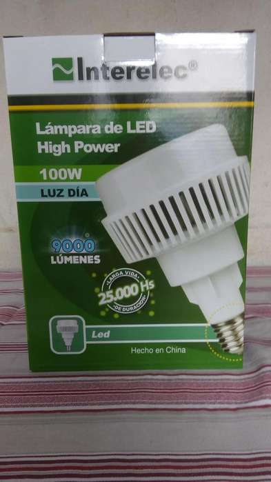LAMPARA LED 100W. HI POWER INTERELEC