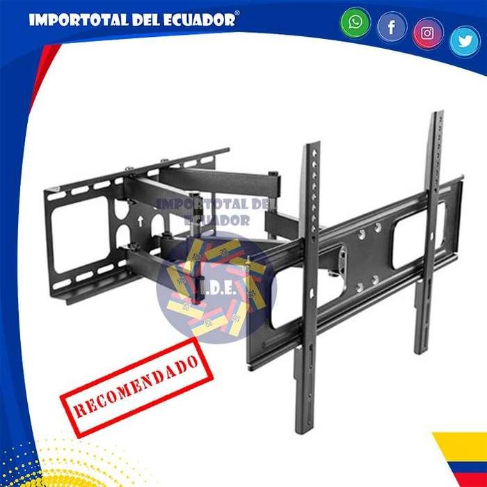 Soporte de pared ''nuevo'' brazo doble tipo acordeón tv plana o curved de 37 a 80 pulgadas / Resiste hasta 110 libras