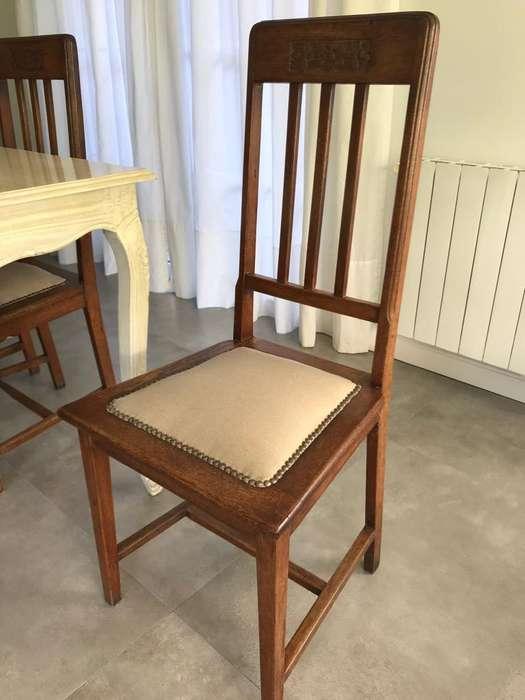 6 <strong>sillas</strong> de Roble Antiguo, Tapizadas