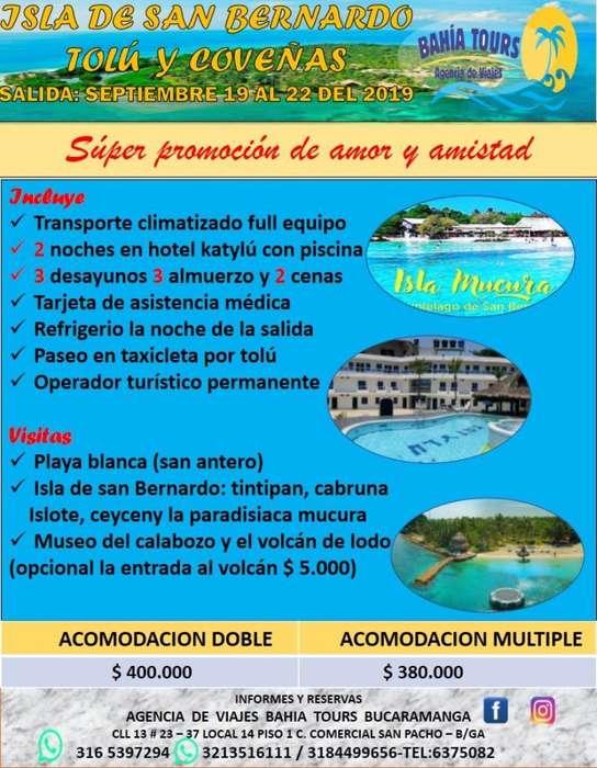 Super Oferta Tour Tolu E Isla Mucura