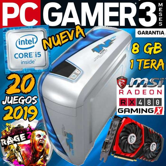 Pc Gamer Core I5 8 Gb 1 Tera Rx 480 4gb Wifi 20 Juegos 2019