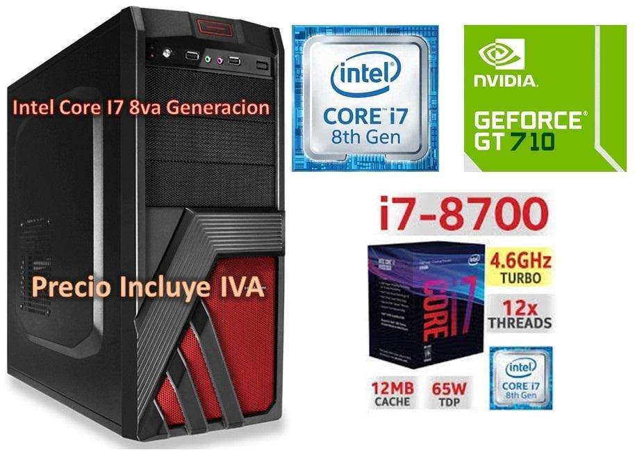 Cpu Computador Gamer Intel Core I7 8va Gen 2tb 4gb Gt710 2gb PRECIO INCLUYE IVA ENTREGA A DOMICILIO