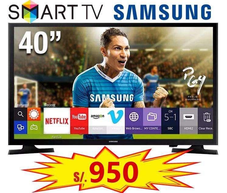 SMART TV LED SAMSUNG 40 TV UN40J5200 FULL HD WIFI integrado NUEVO en TIENDA