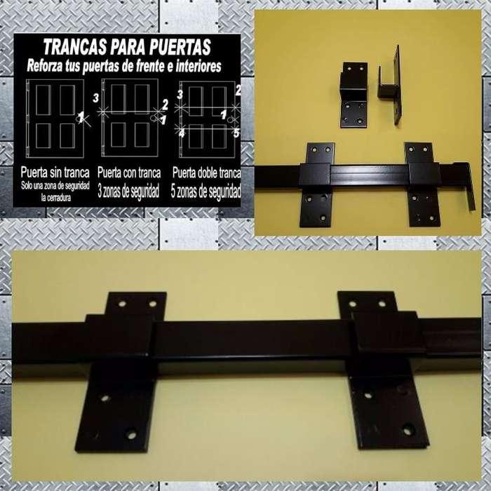 Tranca Barra Para Puertas. Largo De 1 Metro, Seguridad.