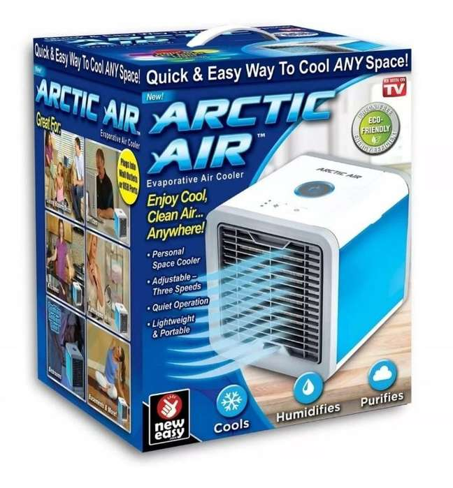 Aire Acondicionado Personal Artic Air Luz Led 7color