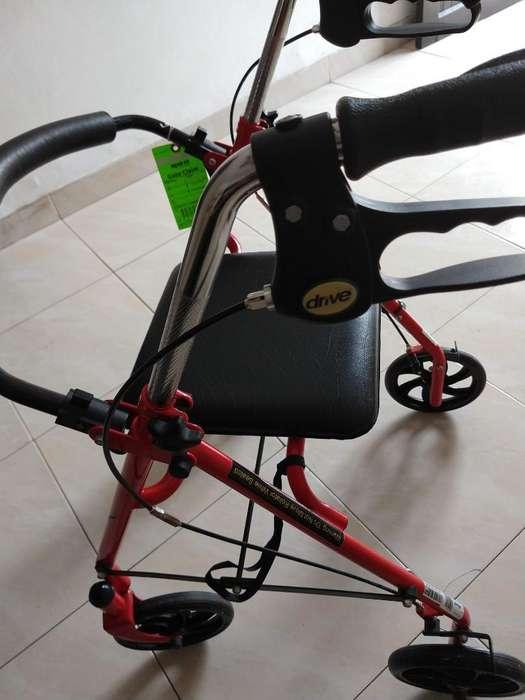 Caminador Silla Nuevo Plegable Aluminio