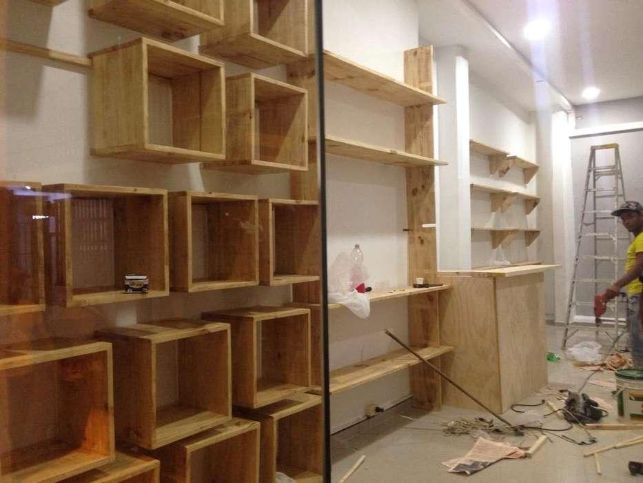 Muebles para Tiendas, Bares, Terrazas, Pérgolas, Estudios.