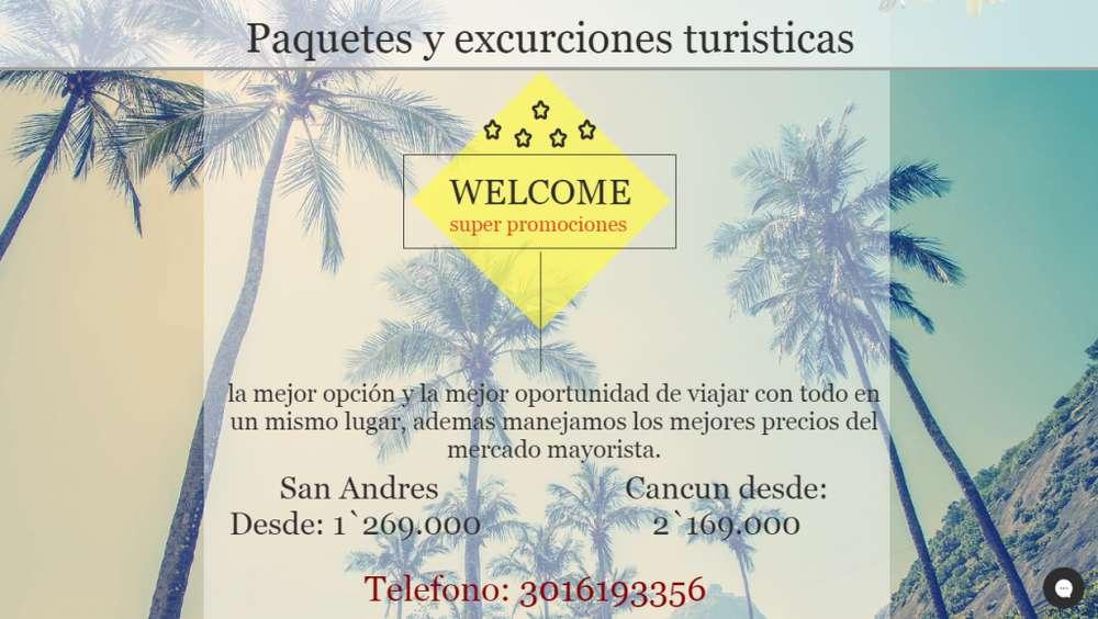 Paquetes turísticos , excursiones , tours , cruceros quinceañeras , solos y solas