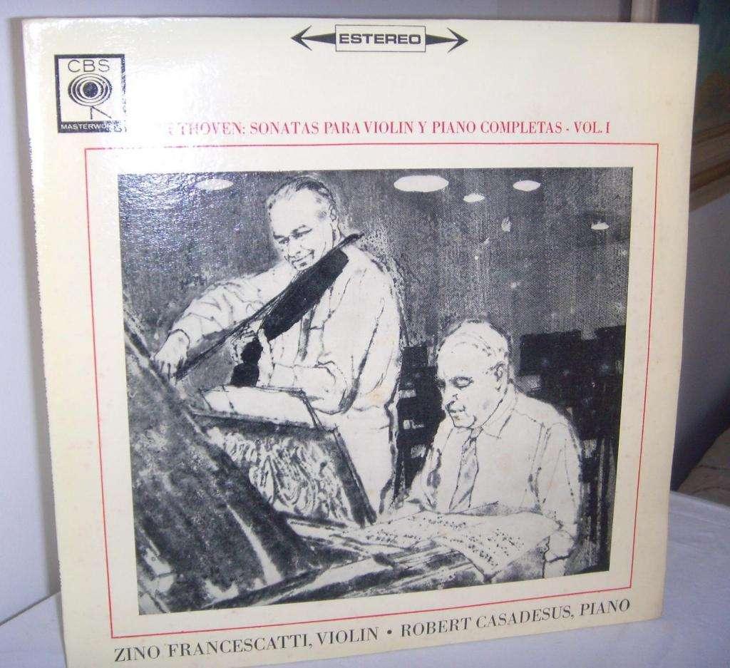 Disco De Vinilo L P Beethoven Sonatas para violín Y Piano