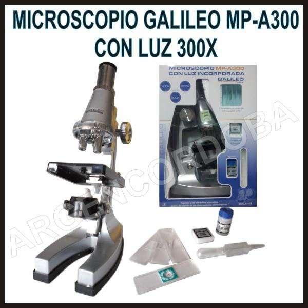 MICROSCOPIO GALILEO MPA300 CON LUZ 300X