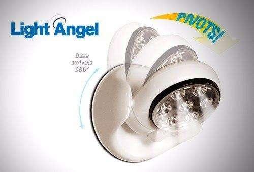 Envio Gratis Lámpara De Led Light Ángel Con Sensor De Movimiento Gira 360