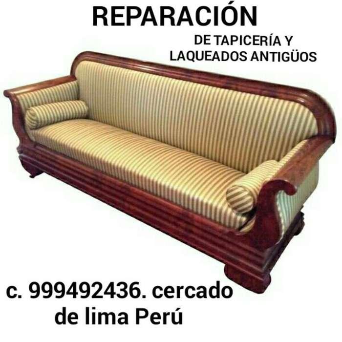 Reparación de Tapicería Antigua Fina