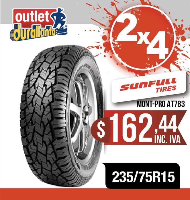 <strong>llanta</strong>S 235/75R15 SUNFULL MONT-PRO AT783 LUV D-MAX BT-50 KORANDO A230 Montero Sport 4WD
