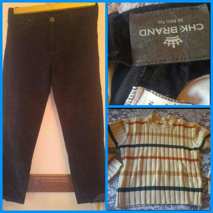 Conjunto Corderoy <strong>cheeky</strong> T10 Y Sweter
