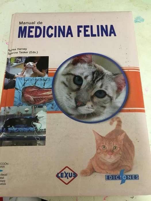 Libro de Medicina Felina Como Nuevo