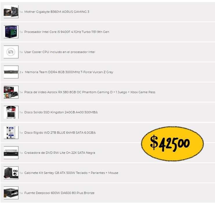 Pc Gamers / Arquitectura i5 9na generacion - vga 580 - 16gb RAM