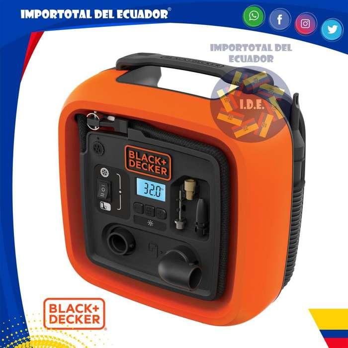 Inflador 12 voltios ''nuevo'' para llantas, balones o inflables grandes / Black Decker BDINF12C / 1 año garantía