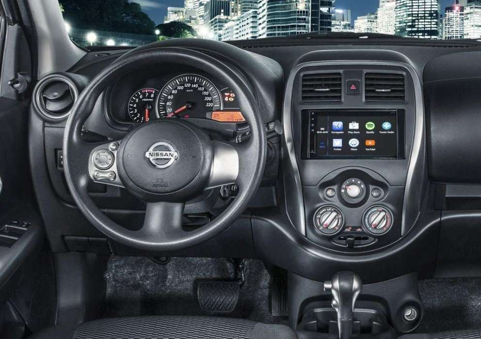 NISSAN MARCH ESTEREO CENTRAL MULTIMEDIA STEREO CON ANDROID, GPS, BLUETOOTH
