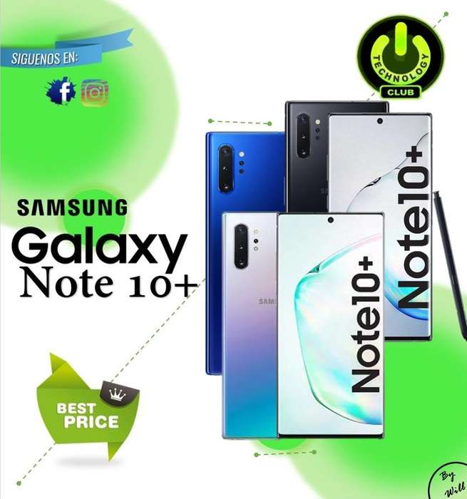 Samsung Galaxy Note 10 Plus Libre de fabrica / Tienda física Centro de Trujillo / Celulares sellados Garantia 12 Meses