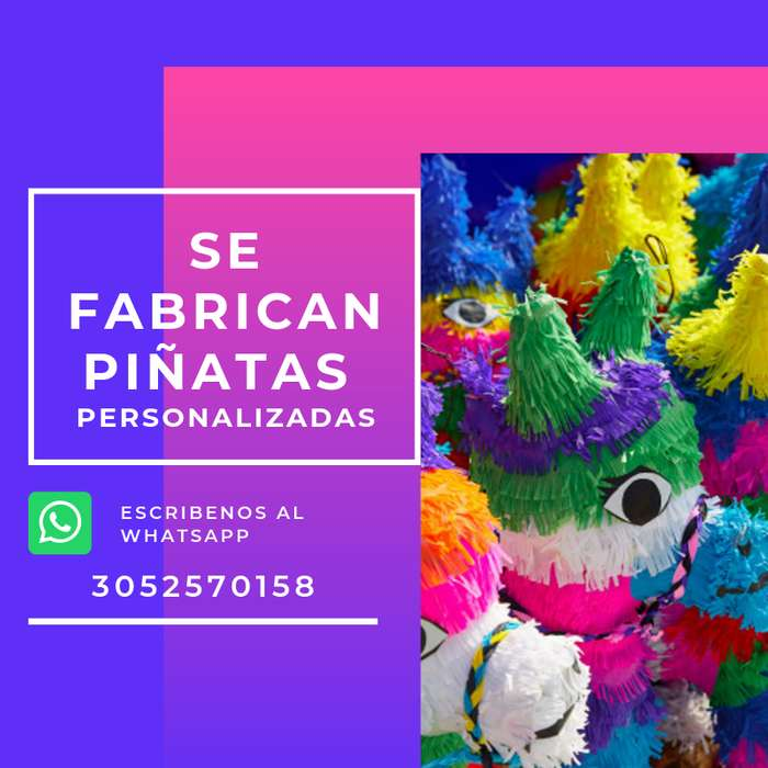 Se hacen piñatas Personalizadas fiestas infantiles