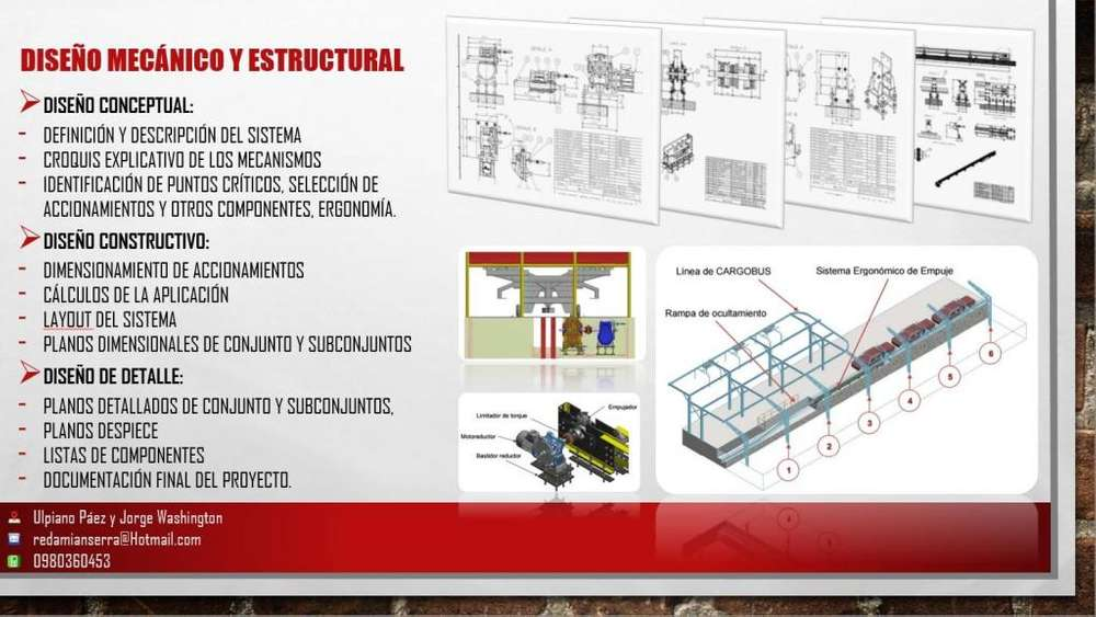 PROYECTOS, CLASES INVENTOR, AUTOCAD, EXCEL PROFESSIONAL