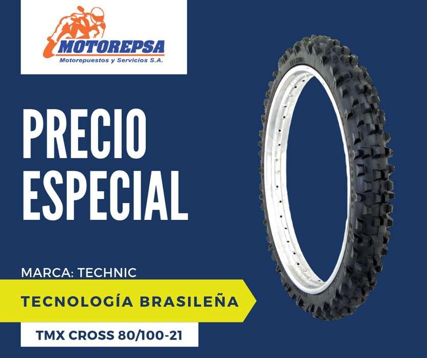 <strong>llanta</strong> TECHNIC TMX CROSS 80/100 21 para Moto HONDA CRF230/250L/250R/450R