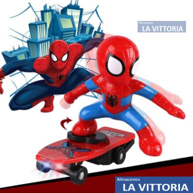 Spiderman con Scooter y Luces Led