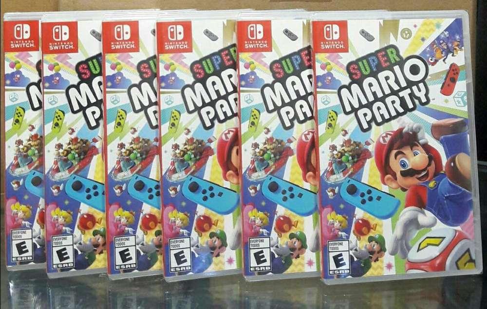 Super Mario Party Nintendo Switch Nuevo Sellado Stock