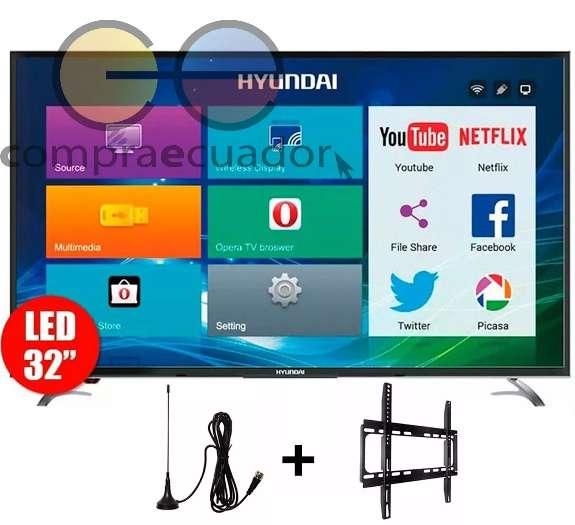 Hyundai <strong>televisor</strong> Smart Hd 32 Android Gratis Soporte Antena