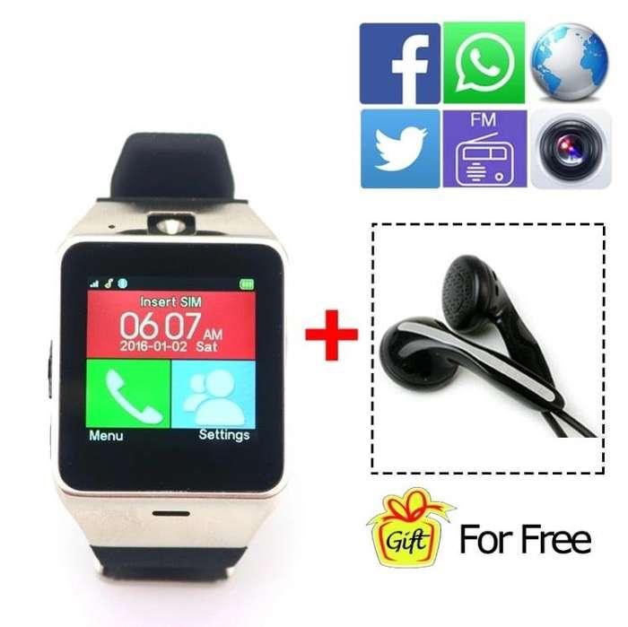 Reloj Smart Watch GV18, <strong>bluetooth</strong>, Camara, SIM, Micro SD, Redes Sociales