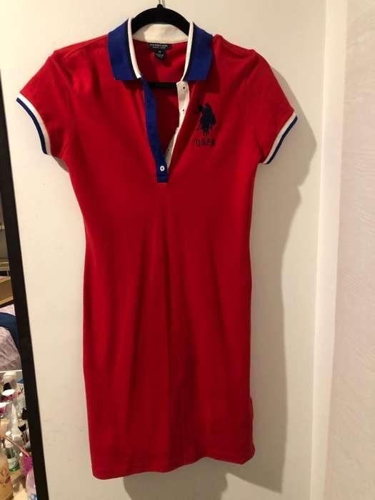 Vestido Us Polo Rojo