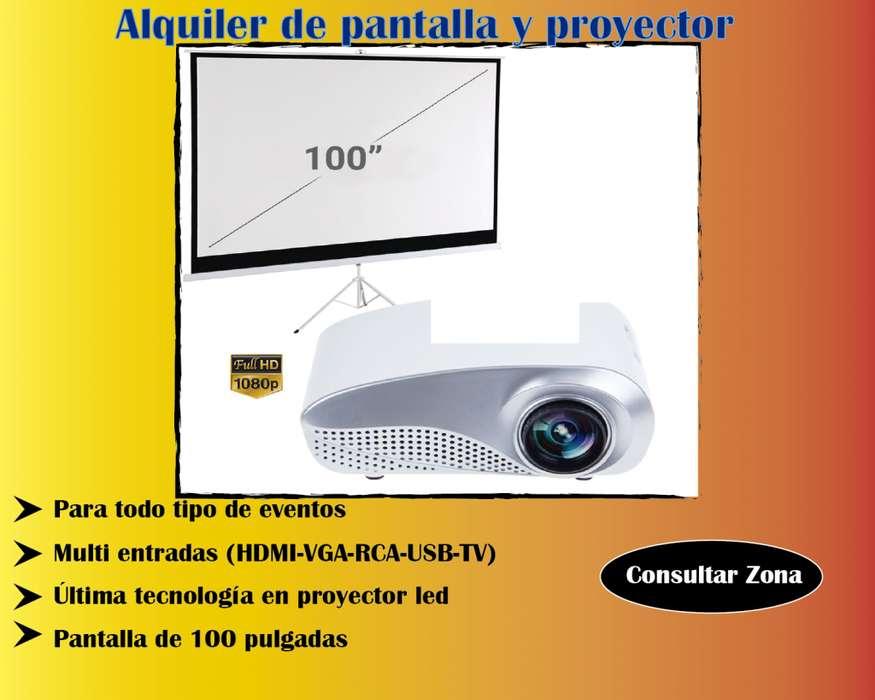 Alquiler de pantalla y proyector. Consultar sonido